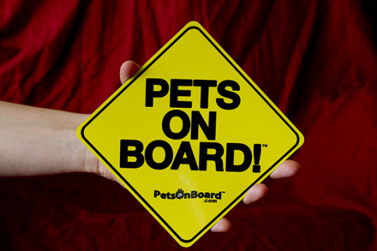 Pets On Board Sign