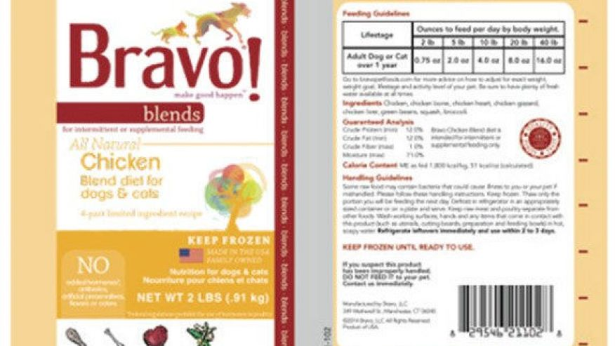 Bravo Pet Foods issues voluntary recall due to Salmonella concerns | PetsOnBoard.com